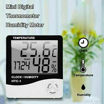 Clock Htc-2 Dijital Nem ve Sýcaklýk Ölçer Saat