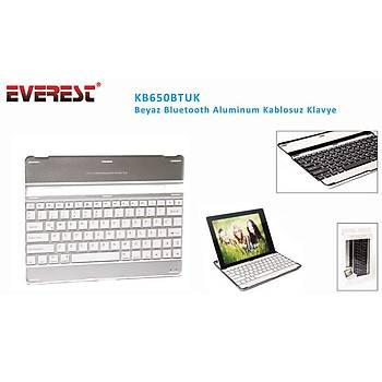 Everest KB650BTUK Beyaz Bluetooth Aluminum Q Multimedia Kablosuz klavye