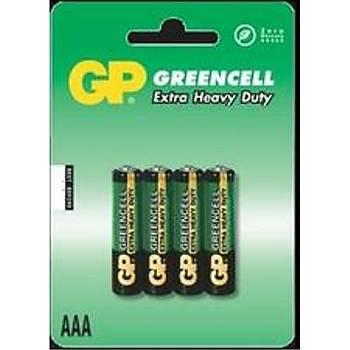 GP Greencel R03 AAA Boy Ýnce Çinko Kalem Pil 4'lü Paket GP24G-U4