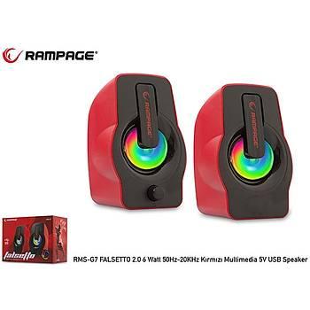Rampage RMS-G7 Falsetto 2.0 6 Watt Kýrmýzý 5v Usb