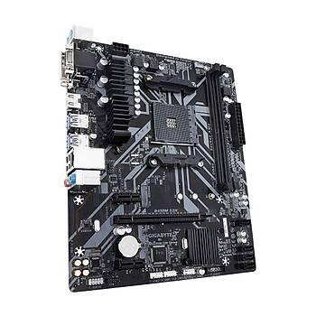 Gigabyte B450M S2H Amd B450 Socket Am4 Ddr4 3200Mhz(O.C.) M.2 Usb 3.1  Anakart