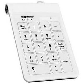 Everest KB-2014 Beyaz Usb Dokunmatik Numerik Standart Klavye