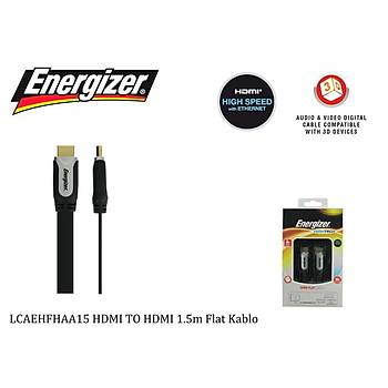 Energizer LCAEHFHAA15 HDMI TO HDMI 1.5m Flat Kablo