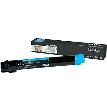 Lexmark X950X2CG 22.000 Sayfa Cyan Mavi Toner X950-X952-X954