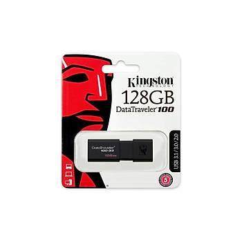 Kingston DT100G3 128 Gb USB 3.0 Siyah Plastik Kasa Flash Bellek