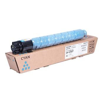 Ricoh MP C407 Cyan Mavi Orjinal Fotokopi Toneri MP C407spf 8.000 Sayfa