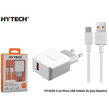 Hytech HY-XE20 2.1A Micro USB Kablolu Ev Þarj Adaptörü