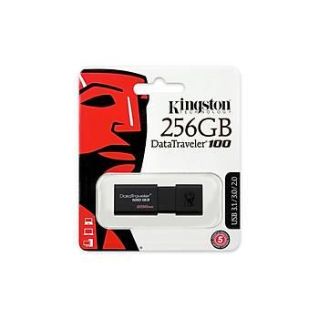 Kingston DT100G3 256 Gb USB 3.0 Siyah Plastik Kasa Flash Bellek