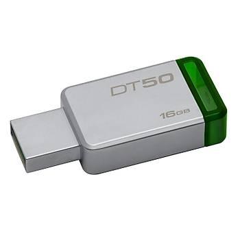 Kingston DT50 16 Gb Usb 3.1 Metal Kasa Flash Bellek 30MB-s Okuma Hýzý 5MB-s Yazma Hýzý