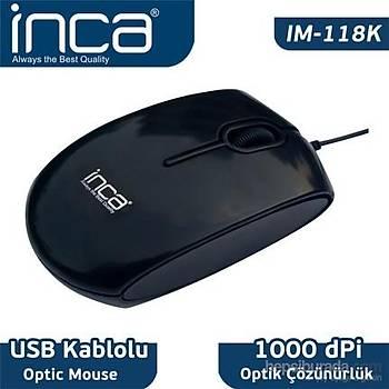 Inca IM-118K Optik Piano Black Mouse