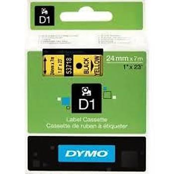 Dymo D1 Yedek Þerit 24 mm X 7 Metre Sarý-Siyah (53718)
