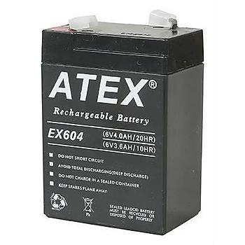 Atex AX-604 6V 4AH Bakýmsýz Kuru Akü