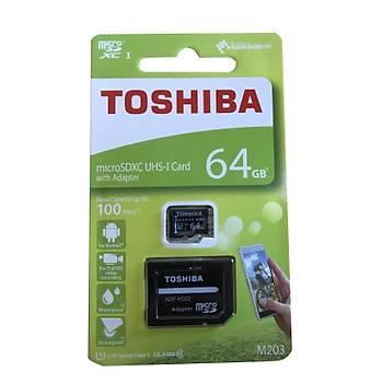 Toshiba Exceria 64GB SDXC UHS1 U3 Micro SD Kart Class 10 90MB-S M203