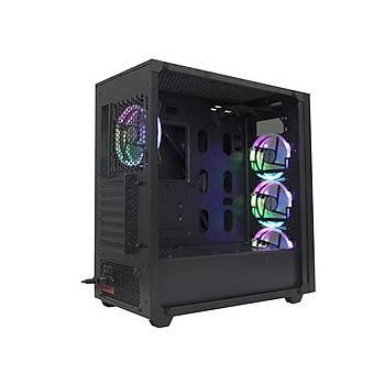 Rampage X-Týtan Rc99 600W 80 Plus Bronze Temper Camlý 4 Adet Rgb Fanlý Usb 3.0 Gaming Oyuncu Kasasý