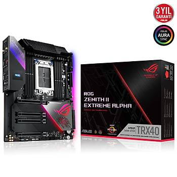 Asus Rog Zenith II Extreme Alpha AMD TRX40 256GB DDR4 4733Mhz M2 Extended ATX Anakart