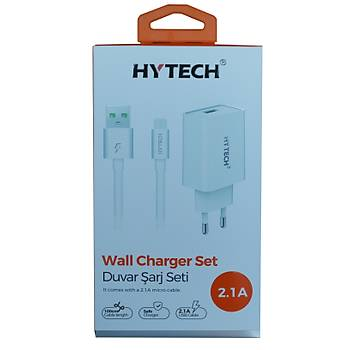 Hytech HY-XE21 5v 2.1a Micro Usb Kablolu  Ev Þarj Adaptörü