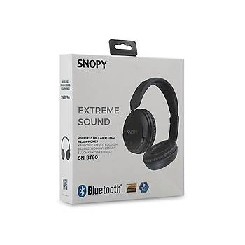 Snopy SN-BT90 Nobby Siyah Bluetooth Kulaklýk