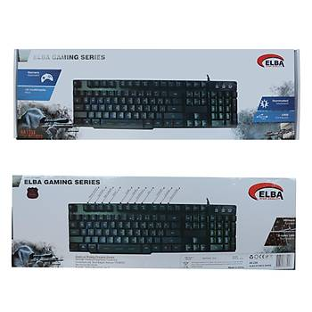 Elba EK-258 Q Usb Siyah 3 Renk Led Kablolu Gaming Iþýklý Klavye
