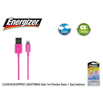 Energizer LCAEHUSYIPPK2 LIGHTNING Usb 1m Pembe