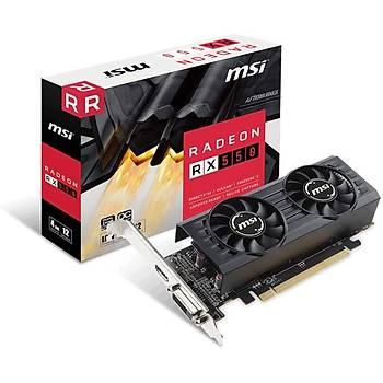 Msi 4GT LP Vga Radeon Rx 550 Oc Rx550 4Gb Gddr5 128B Dx12 Pcie 3.0 X16 (1Xdvi 1Xhdmi) Ekran Kartý