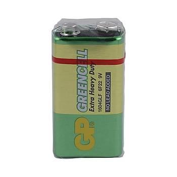 GP Greencel 9V Çinko Pil Tekli Paket GP1604G-2U1