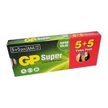 Süper Alkalin LR03 AAA Boy Ýnce Kalem Pil 5+5li Paket GP24A-5EET