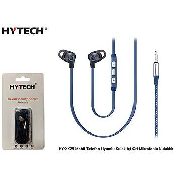 Hytech HY-XK25 Mobil Telefon Uyumlu Kulak içi Gri  kulaklýk