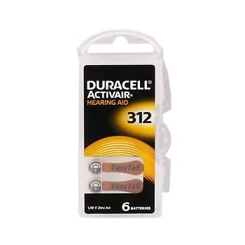 Duracell 312 Düðme Kulaklýk Pili Ýþitme Cihazý Ýçin 6'lý Paket