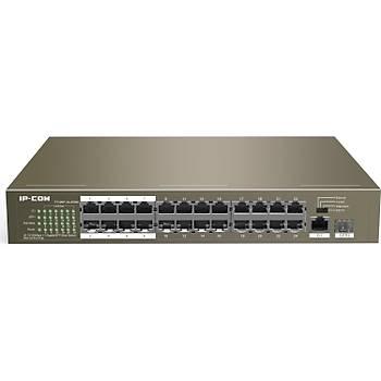 Ýpcom F1126P-24-250W 24 Port  POE+ RJ45 10-100Mbps 2xRJ45Gbit 1xSFP Yönetilemez Switch