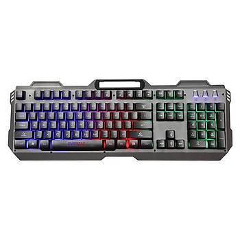 Everest KB-197 TITANIO USB Aydýnlatmalý Q Metal Yüzey Gaming Oyuncu Klavyesi