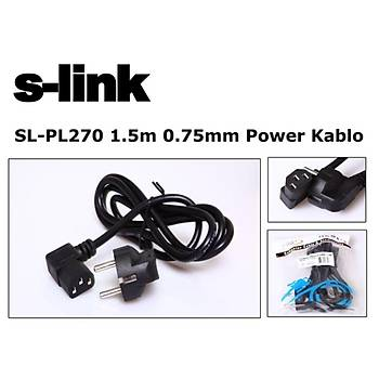 S-link  SL-PL270 1.5mt 0.75mm L Power  Elektrik Kablosu