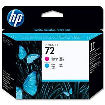HP 72 Magenta-Cyan Kýrmýzý-Mavi Baský Kafasý C9383A