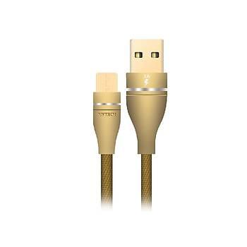 Hytech HY-X220 3A Micro Usb 1m Gold Data Þarj Kablosu