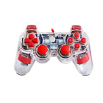 Snopy SG-502J Usb Double Shock Þeffaf Joypad ps3 usb-pc-ps3
