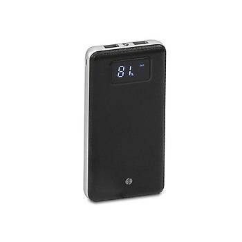 S-link IP-G18 12000mah lcd Ekran Powerbank Siyah taþýnabilir pil þarj cihazý