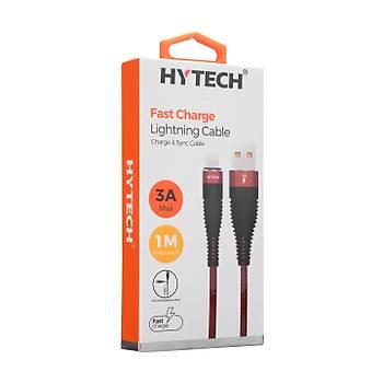 Hytech HY-X325 3A iPhone Lightning 1M, Kýrmýzý Þarj Kablosu
