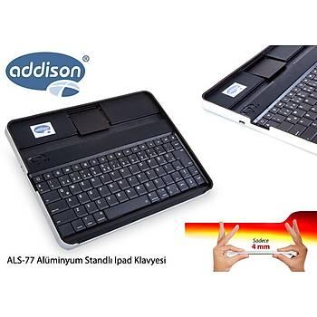 Addison ALS-77 Siyah Bluetooth Tablet PC + iPad Alüminyum Q Multimedia Kablosuz klavye