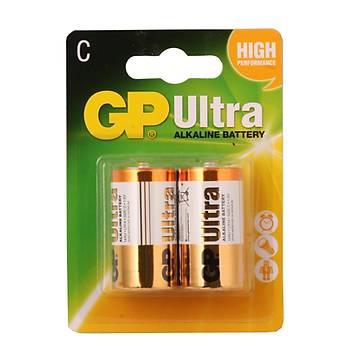 GP LR14 Orta Boy Ultra Alkalin Pil 2'li Paket GP14AU-U2