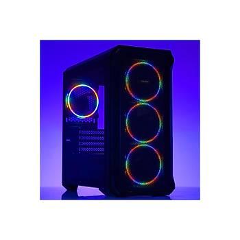 Dark Guardian Mini 4x12cm Fixed RGB LED Fanlý USB 3.0 Bilgisayar Kasasý