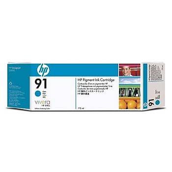 HP 91 Cyan Mavi 775ML Plotter Kartuþu C9467A