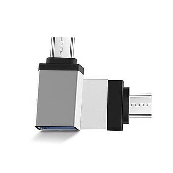 S-link SL-TAOTG25 Gümüþ Metal Gövde Usb F to Micro Usb m Otg Çevirici