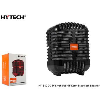 Hytech HY-S40 DC 5V Bluetooth Speaker Siyah Usb+TF Kart