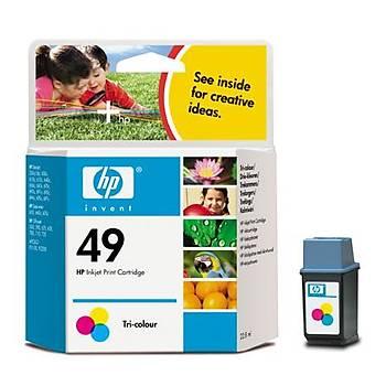 HP 49 Color Renkli Kartuþ 51649A