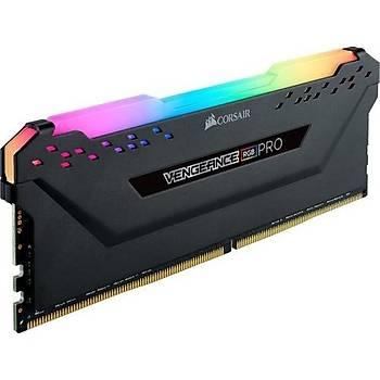 Corsair Vengeance RGB PRO Siyah 8GB 3600MHz CMW8GX4M1Z3600C18 CL18 DDR4 Single Kit Pc Ram