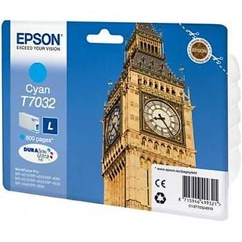 Epson T7032 Cyan Mavi 800 Sayfa Mürekkep Kartuþ T70324010
