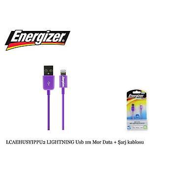 Energizer LCAEHUSYIPPU2 LIGHTNING Usb 1m Mor Data