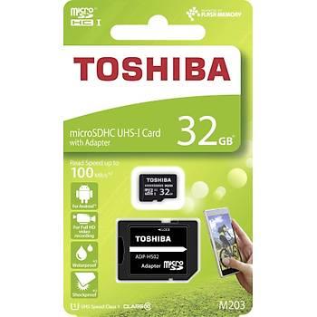 TOSHIBA 32GB MICRO SDHC UHS-1 C10 100MB-sn-M203