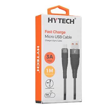 Hytech HY-X225 3A Micro Usb 1m Gri Data + Sarj Kablosu
