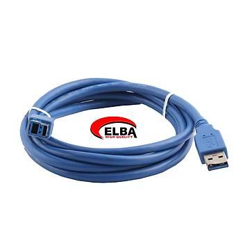 ELBA C50376 1.5mt 3.0 USB Yazýcý Kablosu