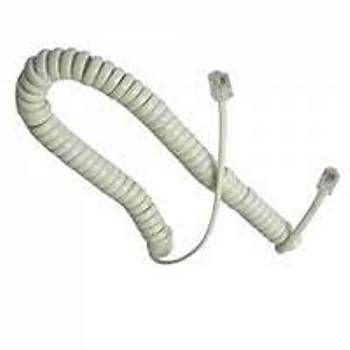 Oem Spiral Gri Kordon Karel Telefon Uyumlu 30cm